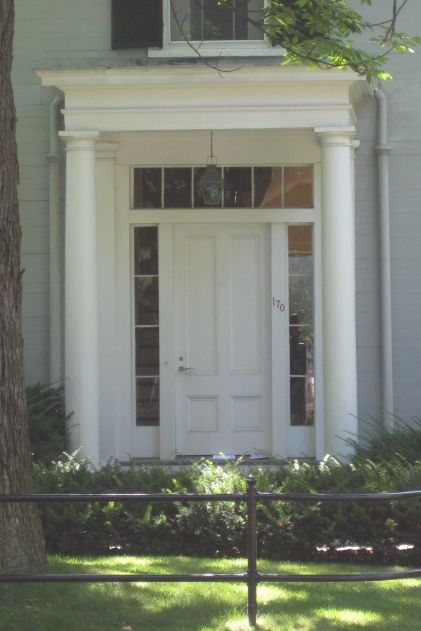 Doorway On A Greek Revival Home On A Brattle Street Home