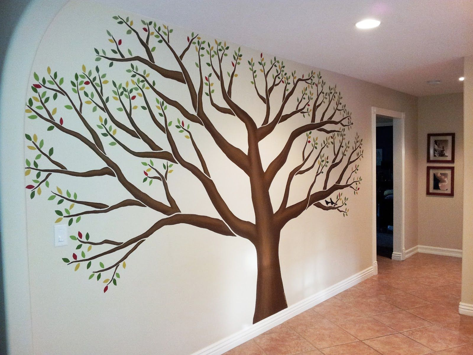 Bedroom Wall Art Trees 39family Tree 39 Painted This Week In Mudroom Of Client 39s