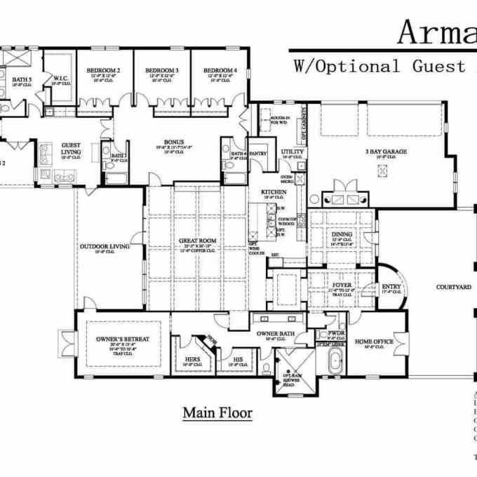 Architectural Designs, Guest House ... | House floor plans ...