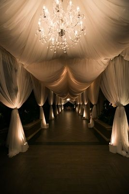 This wedding was so gorgeous... #weddinggoals Tented Entryway Photography: Callaway Gable Read More: http://www.insideweddings.com/weddings/sunset-ceremony-neutral-toned-ballroom-reception-in-beverly-hills/578/