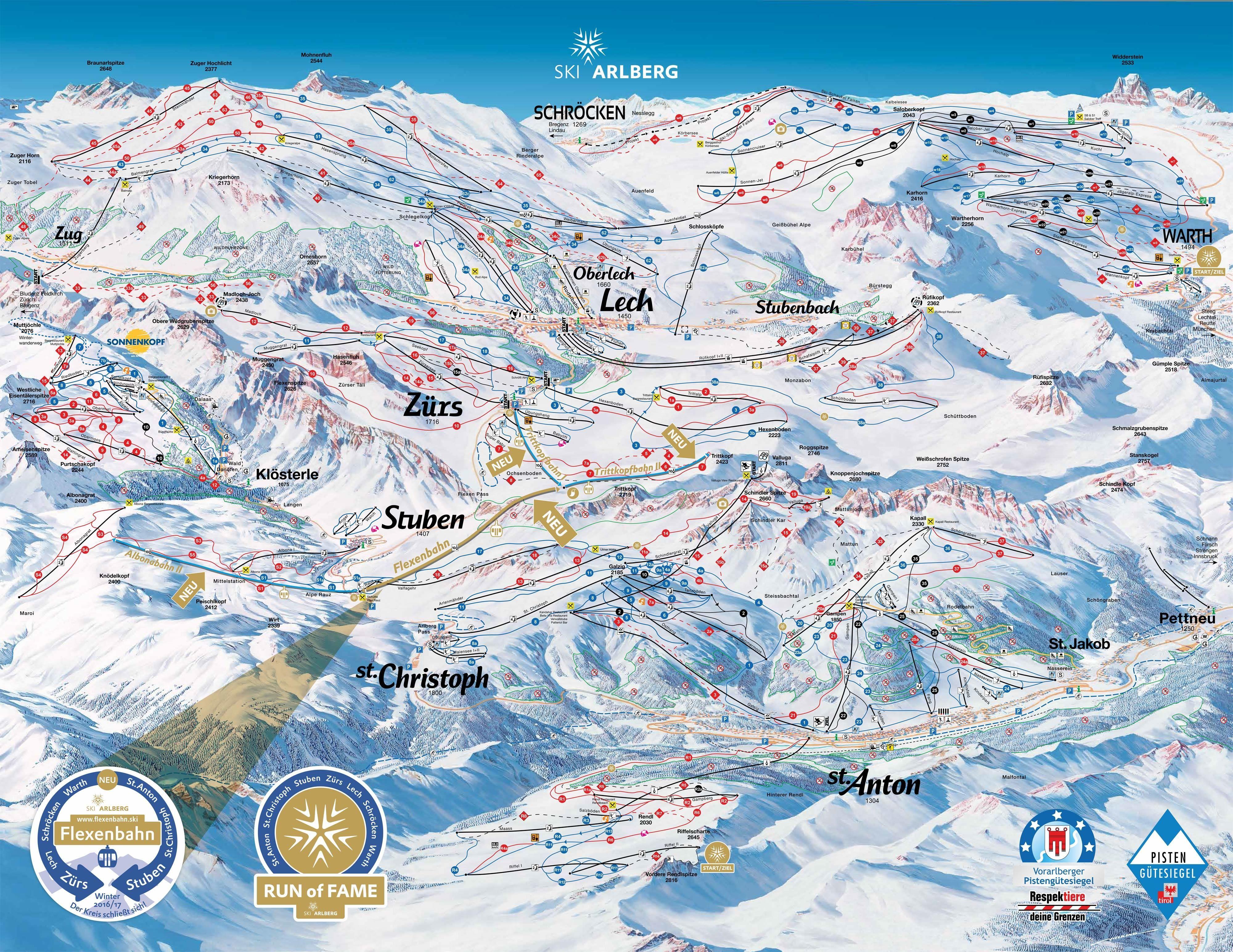 Wo Fahrt Man Am Besten Ski In St Anton Am Arlberg Auf Skiinfo