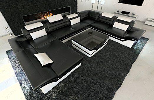 Amazon.com: Leather Sectional Sofa ENZO XXL: Kitchen ...