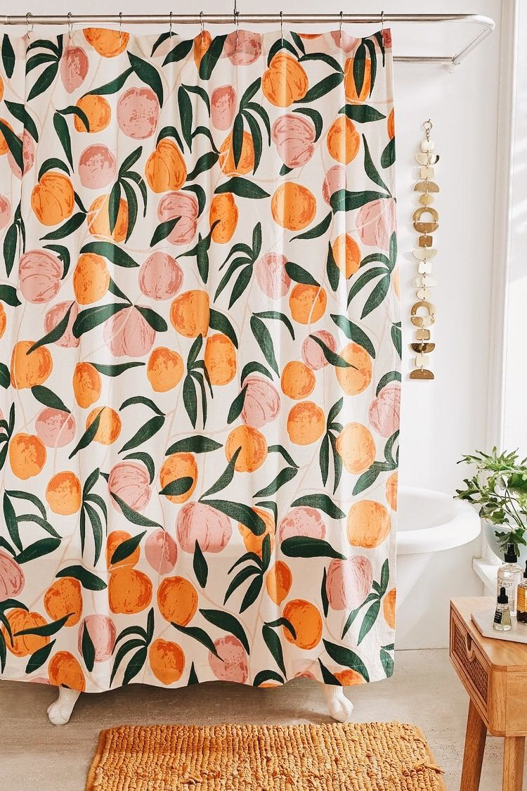 Pin By Meredith Egan On Pour La Maison Peach Shower Curtain