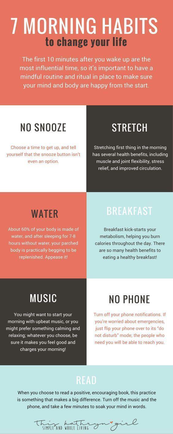 10 besten Morgen Routine-Ideen für Frauen #articlesblog