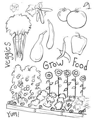 Gardening Coloring Page | Color Pages | Pinterest | Adult coloring