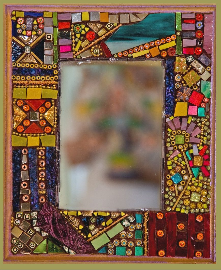 Handmade mosaic and dichroic glass art gifts and jewelry for Mosaic tiles for craft