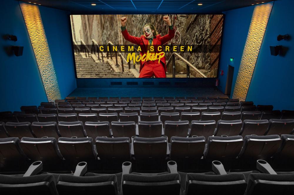 Free Cinema Movie Theater Hall Screen Mockup Psd Cinema Movie Theater Cinema Movies Movie Theater