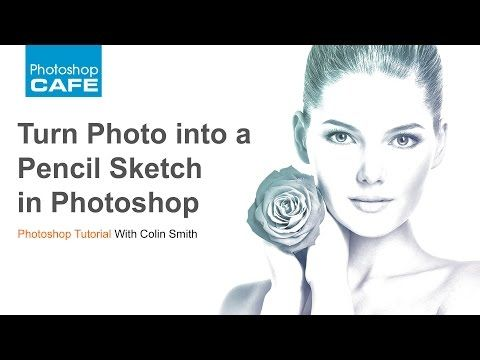 Turn a photo into a pencil sketch in photoshop tutorial photoshopcafe