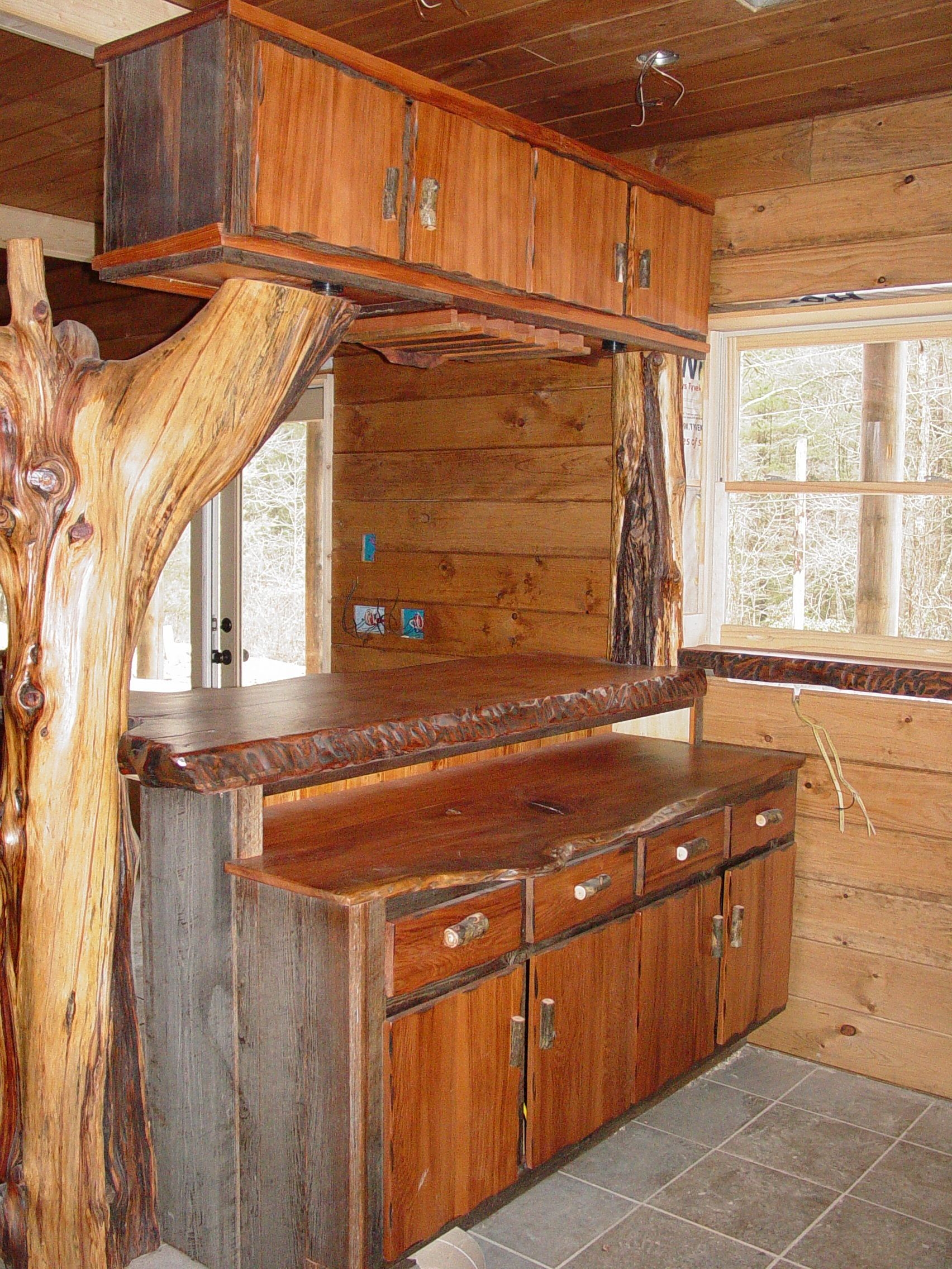 Custom Wet Bars Live Edge Wood Slabs Cool Kitchens