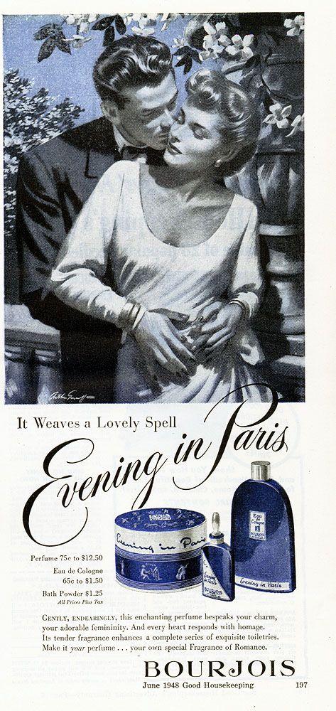 Good Housekeeping June 1948 EVENING IN PARIS; Vintage Print Ad ...