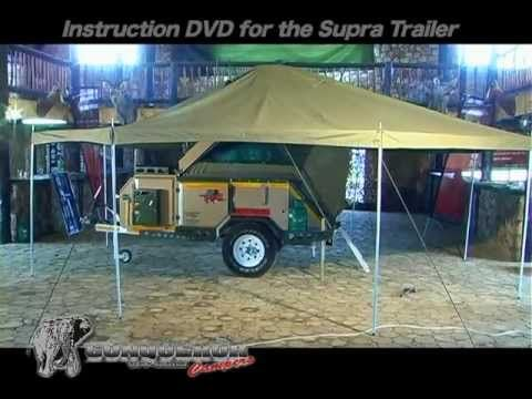 An instruction video on how to setup the Conqueror Supra II available at Heidelberg Factory & Conqueror Supra II Off-Road Trailer - YouTube | Camping Trailer ...
