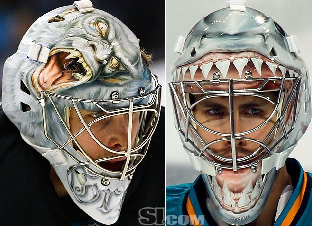 Thomas Greiss 2011 12 Mask San Jose Goalie Mask Goalie Hockey Goalie