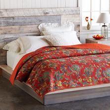 RED FLORAL KANTHA LIGHTWEIGHT QUILT - Sundance Catalog   Quilts ... : light summer quilt - Adamdwight.com