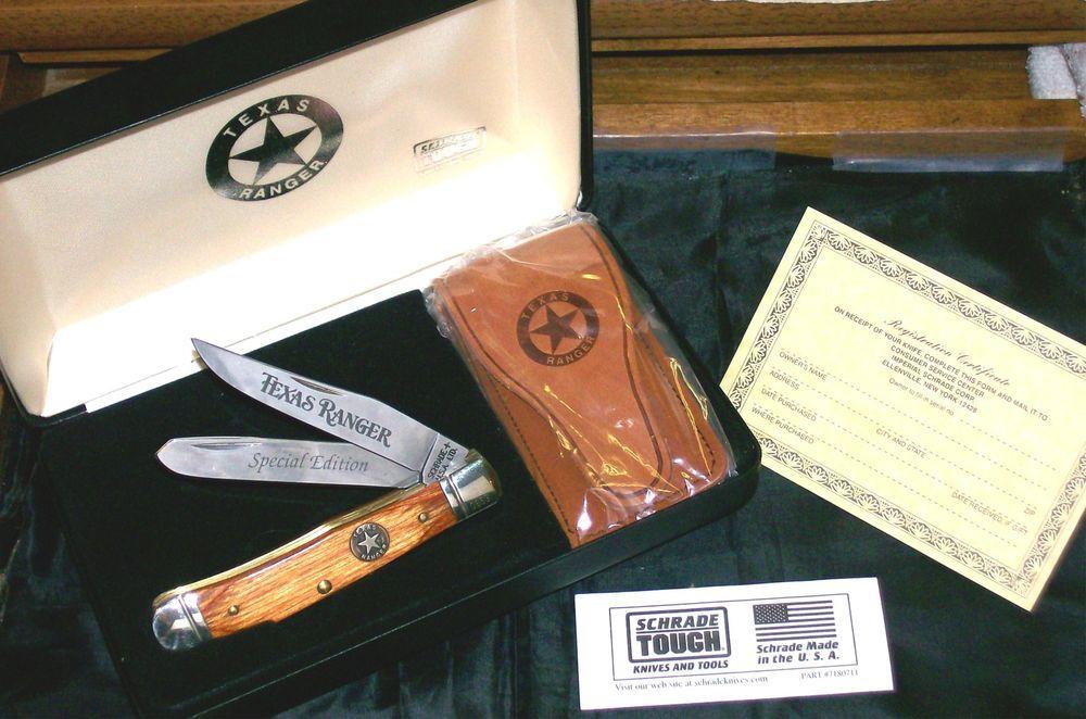 Schrade Knife Special Edition Texas Ranger #0653 W/Sheath 4