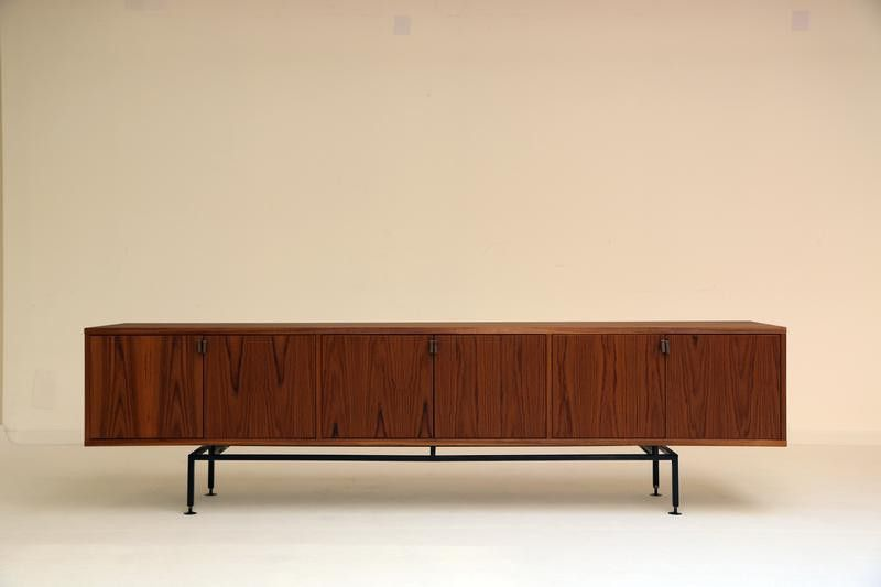 Vintage Style Atom58 Xxl Sideboard Teak Designaddict Shelving