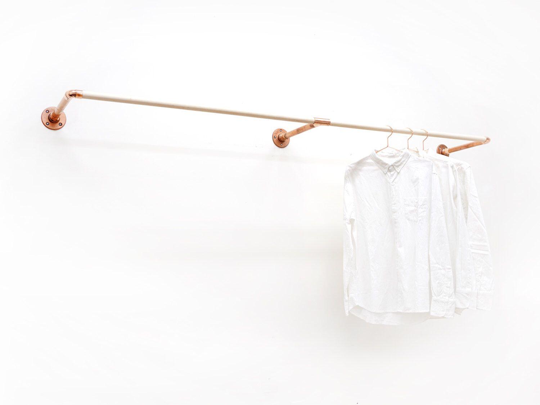 W Rack Wall Mount Clothing Rack In