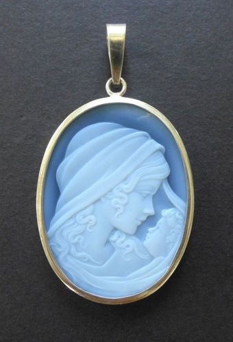 Vintage Sterling Silver Blue Agate Cameo Madonna And Child Pendant Hard Stone Ebay Cameo Brooch Cameo Jewelry Beautiful Cameo