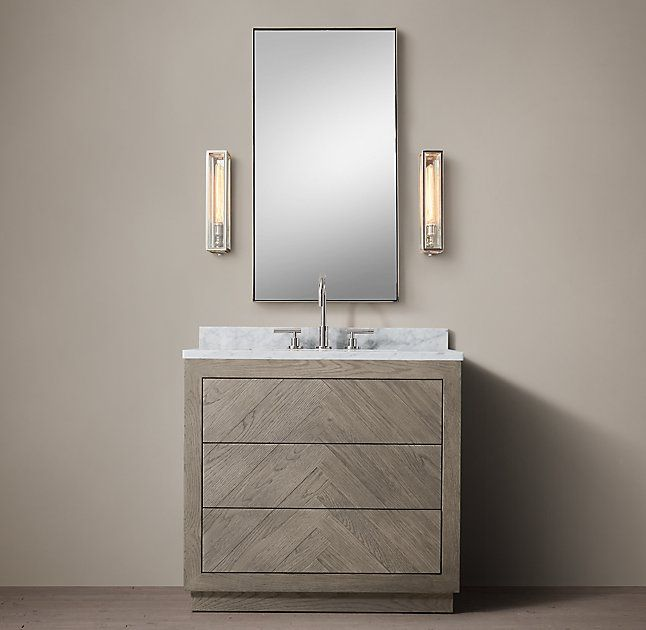Herringbone Single Vanity Single Vanity Vanity Luxury Bathroom