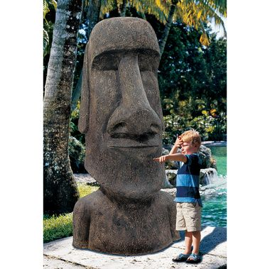 Design Toscano Easter Island Ahu Akivi Moai Monolith Garden Statue   Its  Large, Its Mythical, And Its Ready To Turn Your Yard Into A Mysterious  Wonder Of ...
