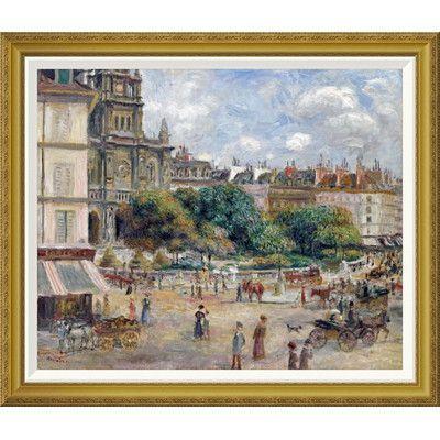 Global Gallery 'Place De La Trinite' by Pierre-Auguste Renoir Framed Painting Print Size: