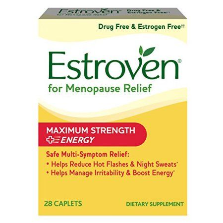 Estroven Menopause Relief + Stress, Maximum Strength, Hormone Free, 28 ct - Walmart.com
