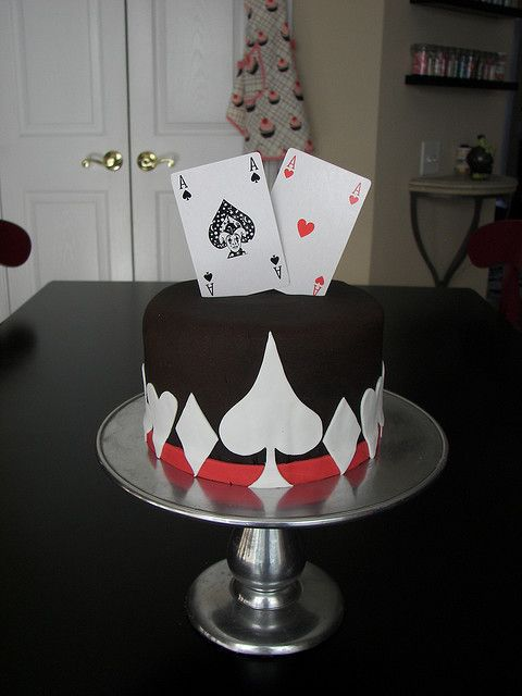 Ace Of Spades Cakes Poker Cake Cake Birthday Cake
