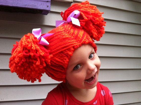 Kids Yarn wig, Rag doll wig, Pigtail wig, Kids dress up hair, Kids ...