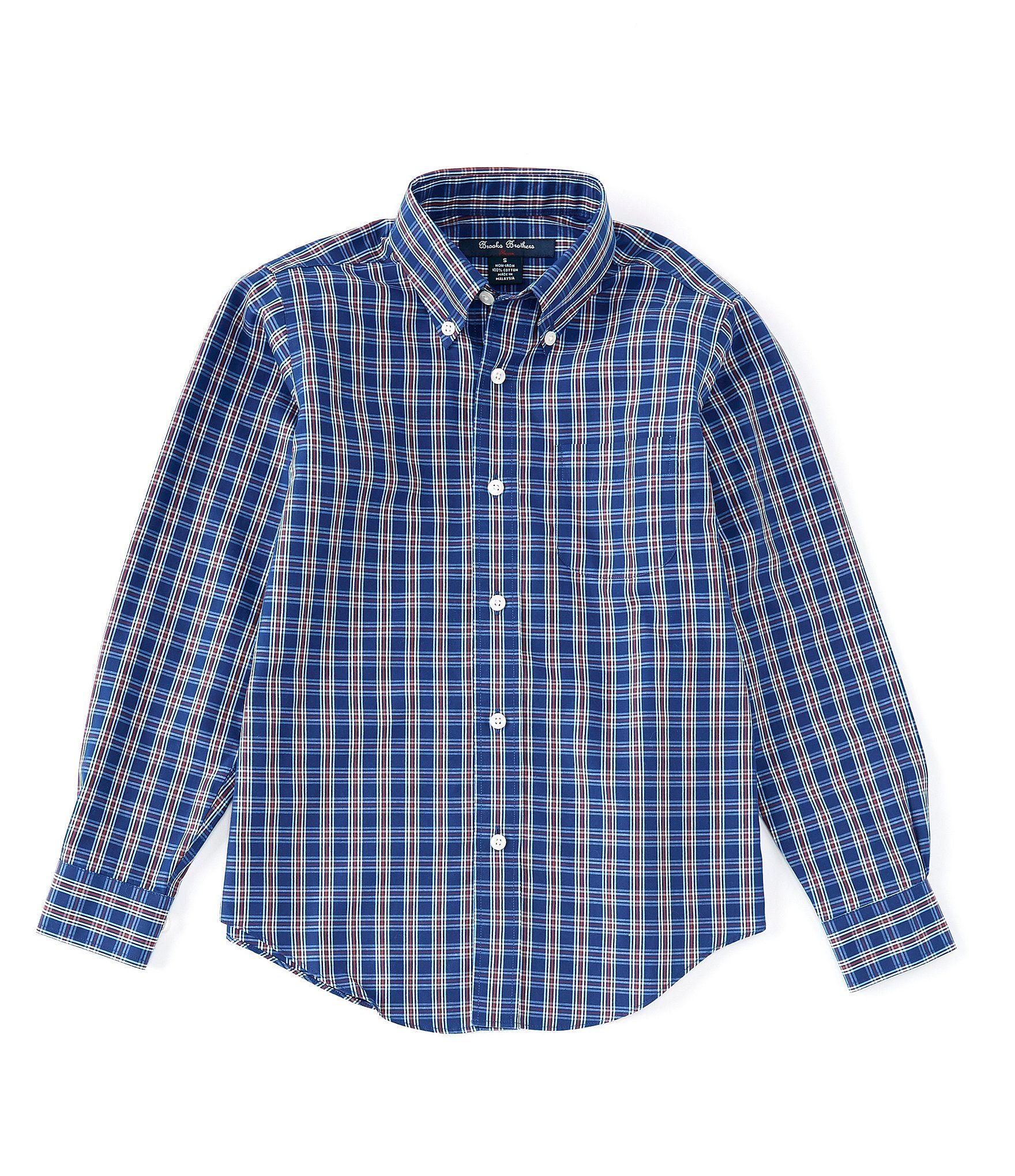 Xs Blue Brooks Brothers Boys Dress Shirt