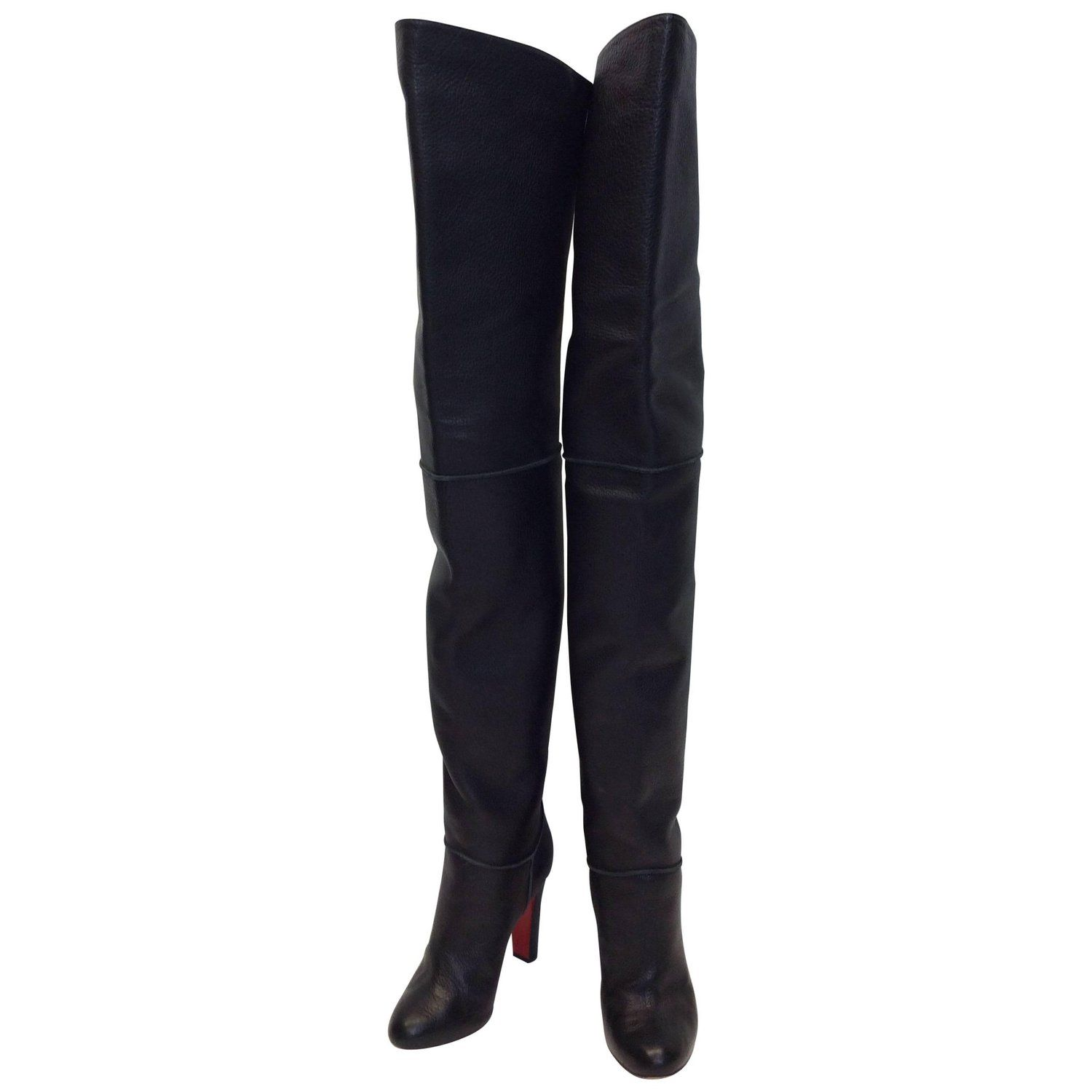 cae3baf3d6db Christian Louboutin Black Over The Knee Boots