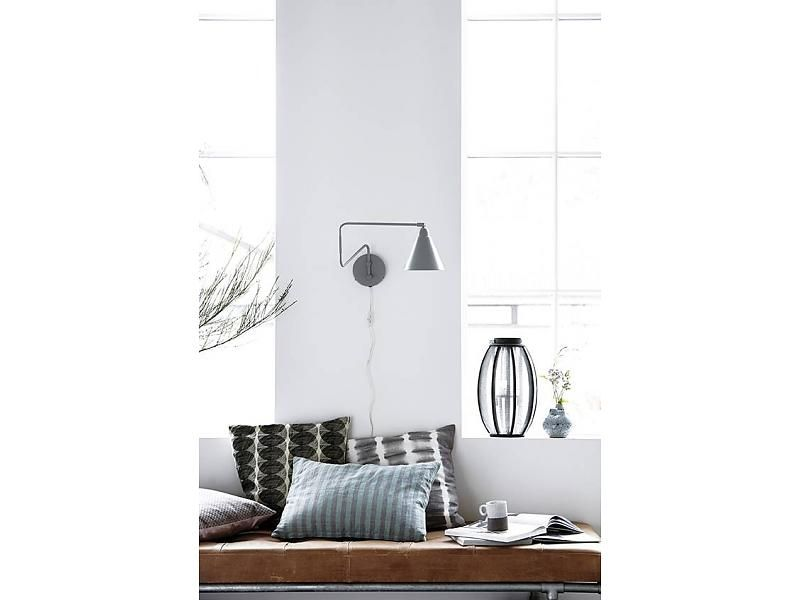 House doctor game wall lamp black metal design for home