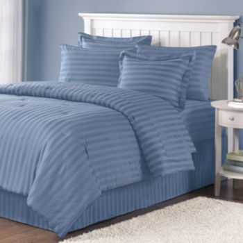Croft Amp Barrow 174 300 Thread Count Damask Striped Comforter