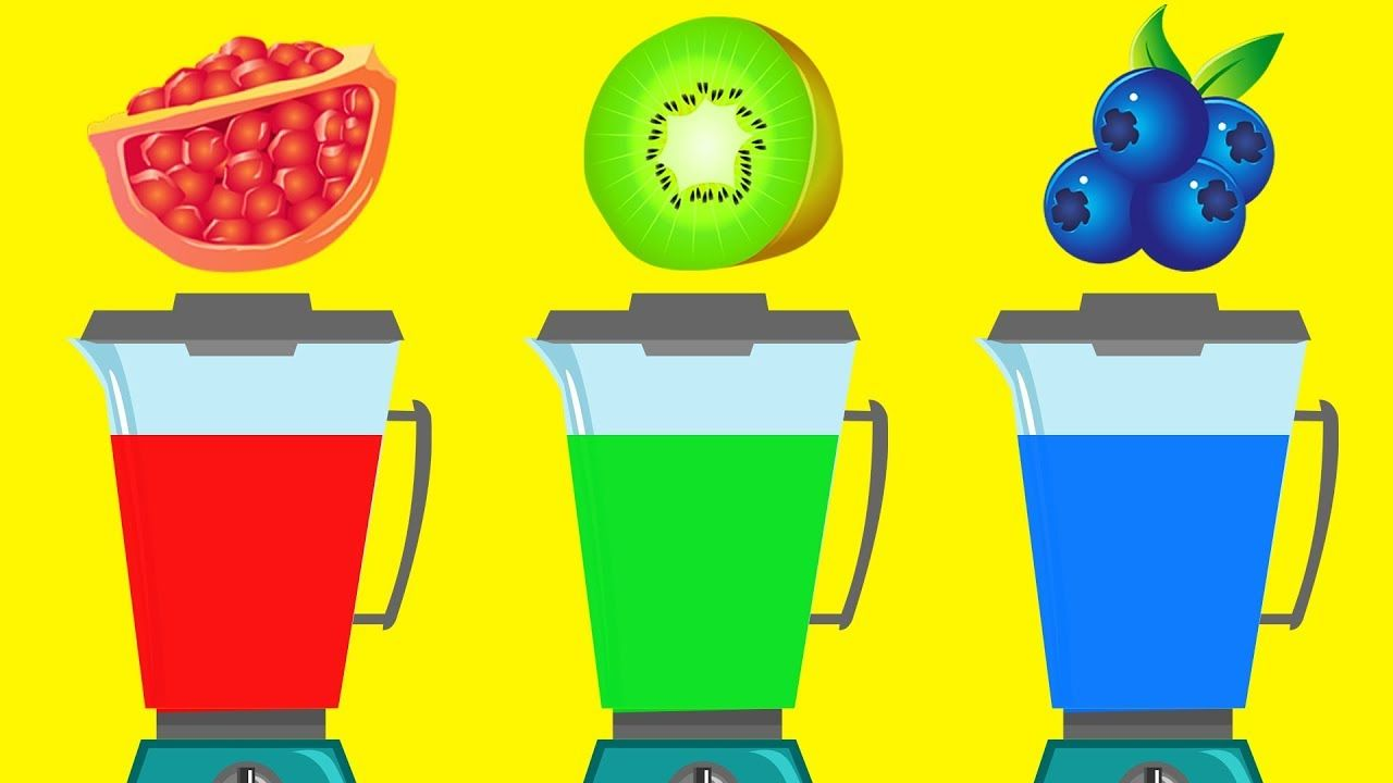 Learn Fruits Names And Colors With Fruit Blender Toy For Kids