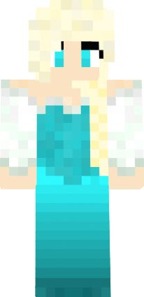 Elsa From Frozen Minecraft Skin Minecraft Girl Skins Pinterest - Skin para minecraft pe frozen