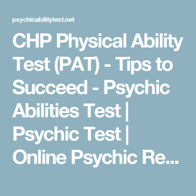 Chp physical ability test pat tips to succeed psychic keys to getting the law enforcement job you want fandeluxe Gallery
