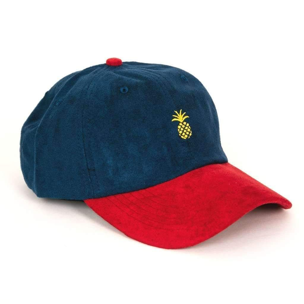 Pineapple Suede Two-Tone Dad Hat (Navy Red)  825a4f8a6d0c