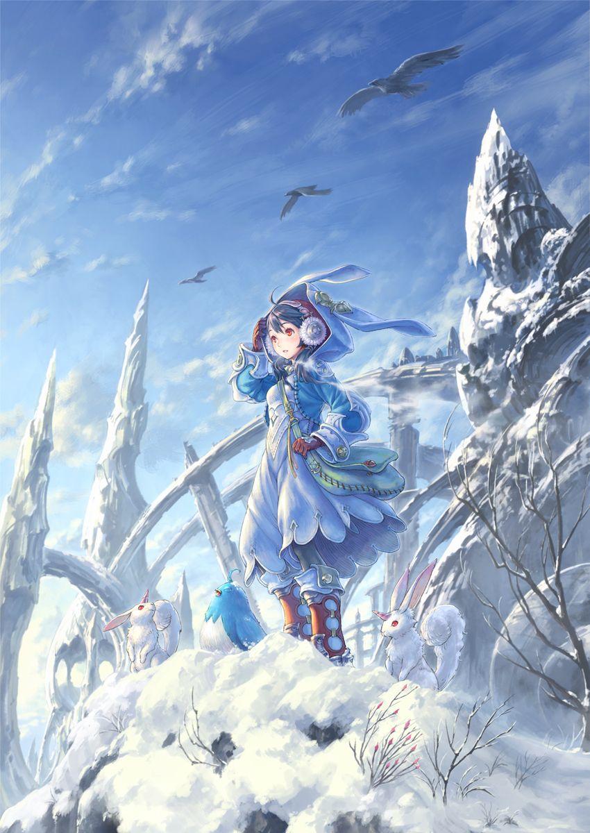 Basking in the winter sunlight. Anime art, Anime, Art