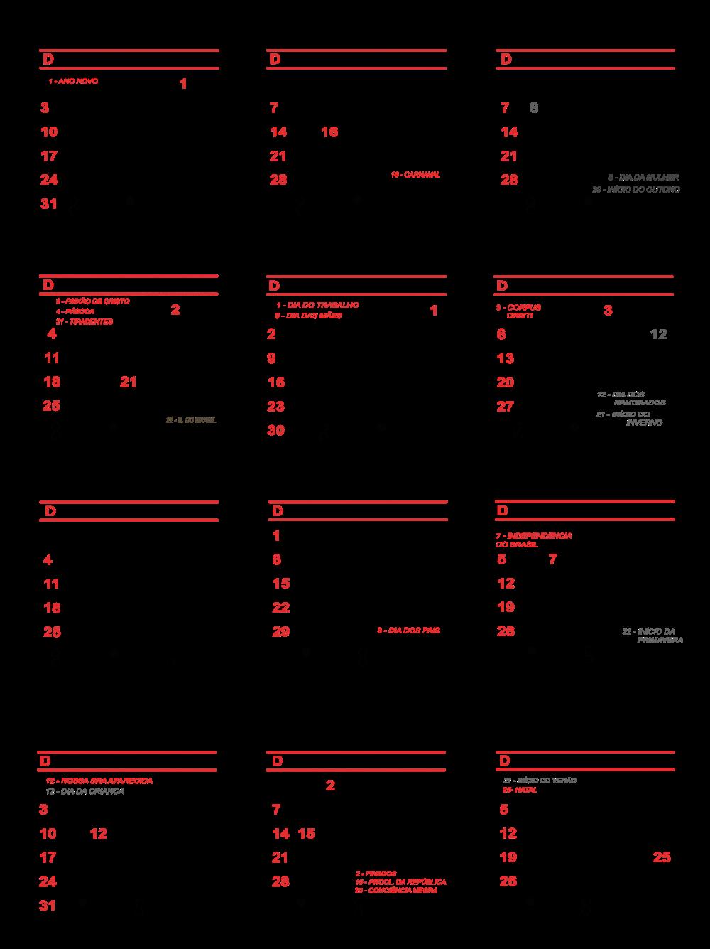 Base de Calendário 2021 de Bolso | Imagem Legal em 2020