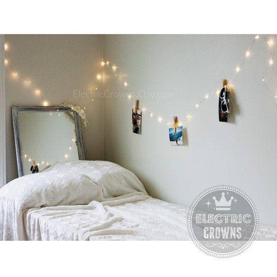 Fairy Lights Bedroom Hanging Indoor String Home Decor Dorm Room Gift Plug Battery Operated Led