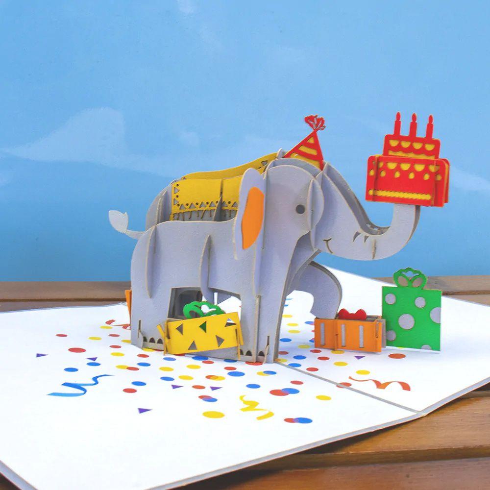 Birthday Elephant Pop Up Card Wholesale Greeting Cards Pop Up Cards Birthday