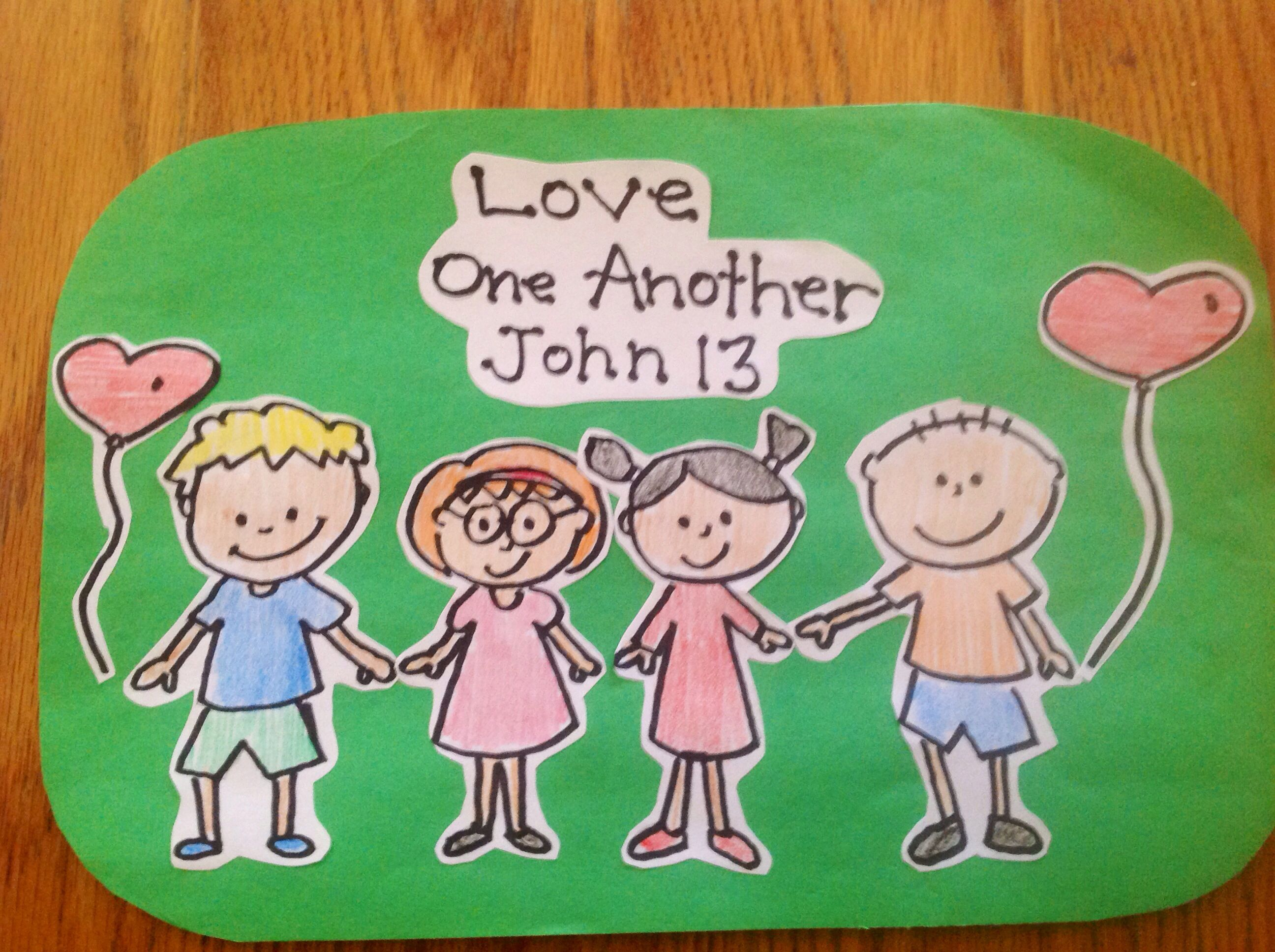 Love One Another Bible Craft By Let With Images