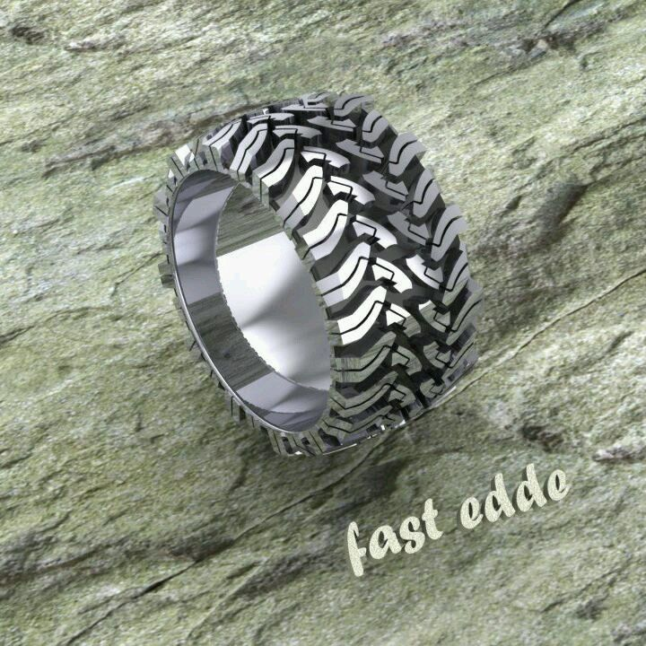 tire wedding ring road tread ring in silver emailed to find out 8014
