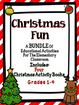 Christmas Bundle - A great addition to any elementary classroom.  Students will have a blast with these Common Core Christmas activities.  #tpt #bundle #christmas