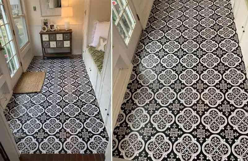 Ornate Peel And Stick Floor Tile Decor Tile Floor Peel And Stick Floor