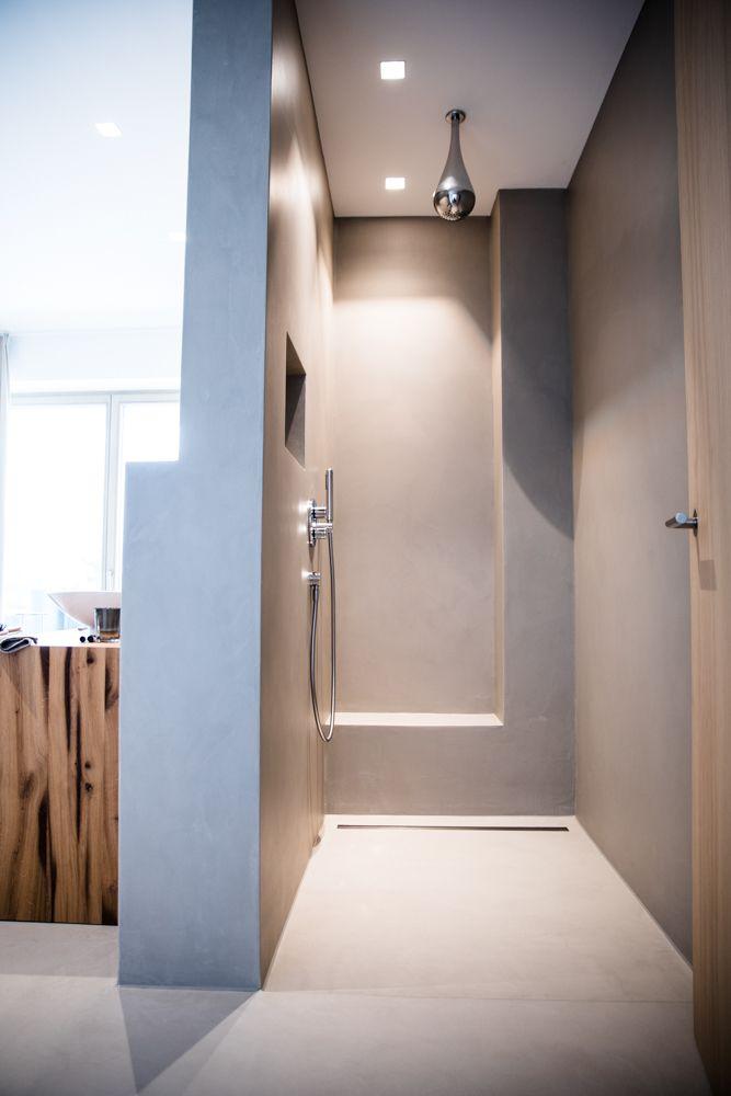 Dusche Wall Sichtestrich Badezimmer Badezimmer mit