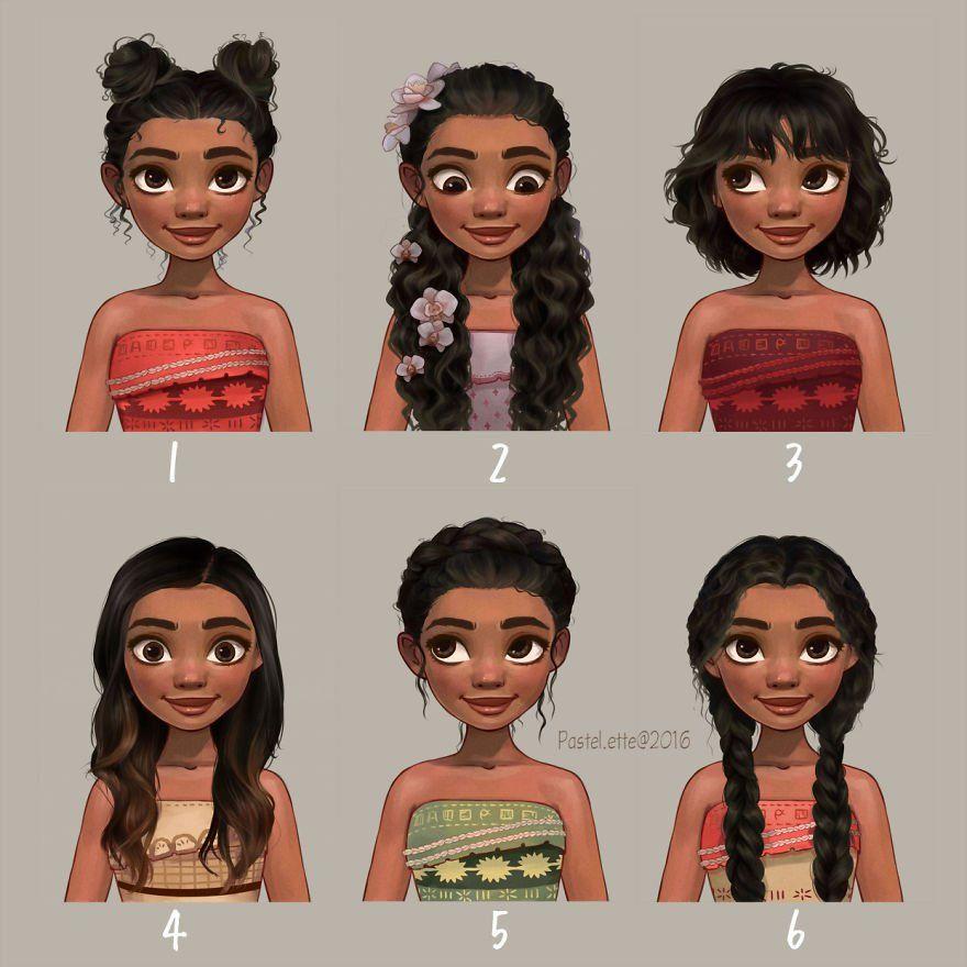 Disney Hairstyles Así Se Verían Las Princesas De Disney Si Se Peinaran Al Estilo De