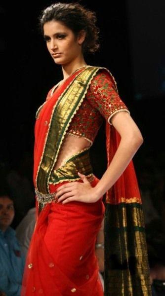 Red and green sari #saree #sari #blouse #indian #outfit #shaadi #bridal #fashion #style #desi #designer #wedding #gorgeous #beautiful