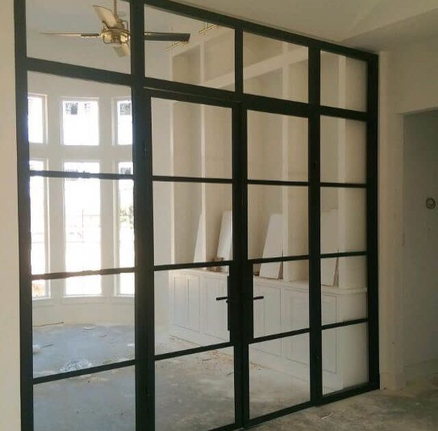 Dustin Anderson Of Anderson Glass Delivers Beautiful Steel Sliding Doors  From His GridLine Series To Fixer