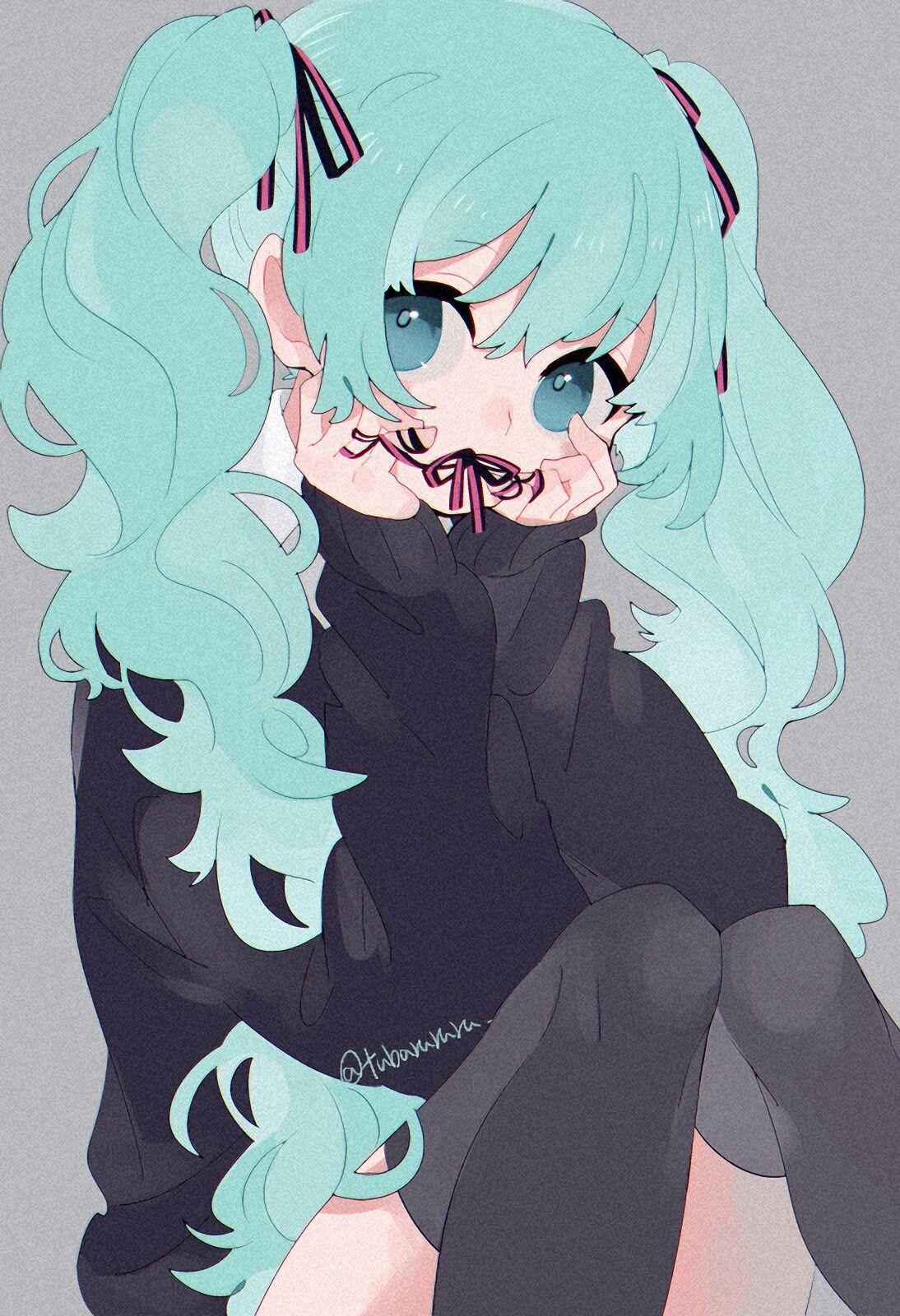 Hatsune miku anime art hatsune miku vocaloid anime art - Cute anime miku ...