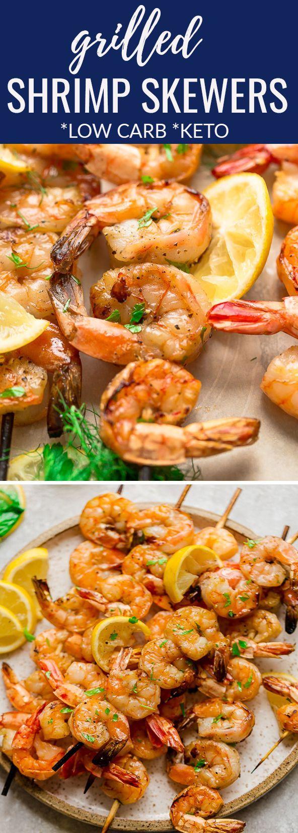 Low Carb Shrimp Kebabs with Lemon Butter Sauce - Life Made Keto Low Carb Shrimp Kebabs with Lemon B