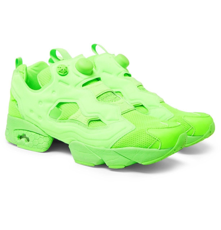 fb46579ddccb1 Reebok Neon Green Instapump Fury Sneakers by Vetements in 2019 ...